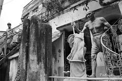 Stepping out (pathikdebmallik) Tags: india moulding kolkata calcutta spiralstaircase mahatma westbengal gandhiji dandimarch northcalcutta koomartuli