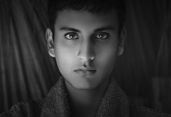 (Tc photography.Per) Tags: new winter light boy portrait blackandwhite bw white black cold male film face fashion canon 50mm grey model eyes skin young naturallight testing retouching malemodel lighteyes tcphotography