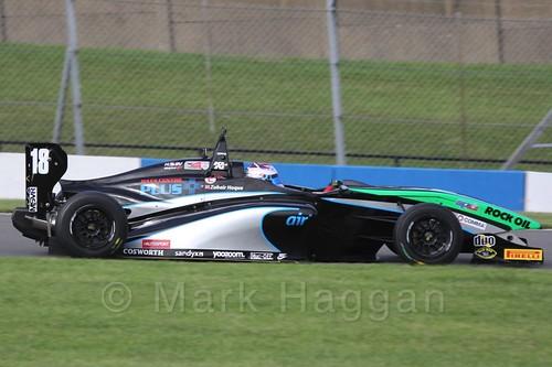 Sean Walkinshaw Racing's Zubair Hoque in BRDC F4 Race 3 at Donington Park, September 2015
