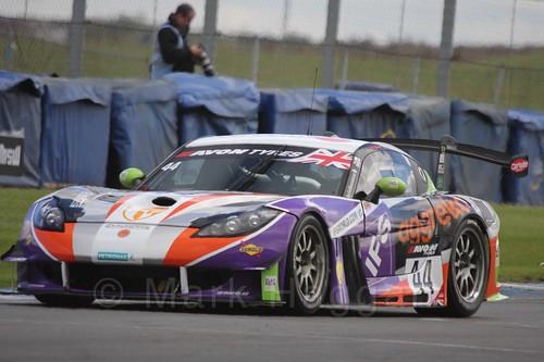 The Team LNT Ginetta G55 GT3 of Rick Parfitt Jr and Tom Oliphant in British GT Racing at Donington, September 2015