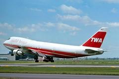 N93108 Trans World 747-131 landing at KORD (GeorgeM757) Tags: airplane airport aircraft aviation boeing chicagoohare twa jumbo widebody jetliner transworld kord 747131 alltypesoftransport georgem757 n93018
