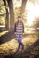 Autumn at Two Mile (Kilkennycat) Tags: autumn portrait fall girl sunshine fog sunrise canon child purple backlit plaid knithat 500d kilkennycat t1i ryanconners 24mmpancake