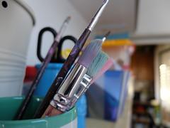 No intervalo da pintura (aclopes50) Tags: abstrato cor pintar composição trabalhosmanuais pincéis colorir fujix30