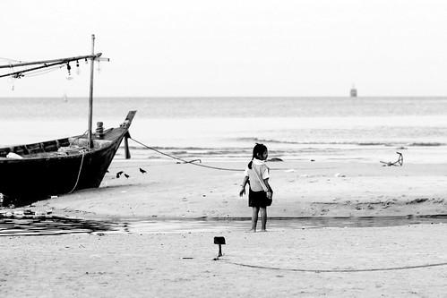 Sur la plage de Hua Hin