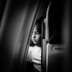 Title - unknown (HariRaj Ji) Tags: light white travelling girl face look female plane nikon oldstyle child thankyou expression flight silence gratitude stillness fortheloveofgrain harirajji