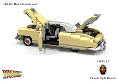 Packard 1948 Custom Eight Victoria (Back to the Future I & II) (lego911) Tags: auto birthday 6 brown 1948 film car movie back model october lego dr render bttf 21st convertible victoria 45 1940s future scifi custom doc eight challenge 8th backtothefuture cad packard 40s lugnuts 96 povray moc emmet ldd 2015 miniland everythingunderthesun yourclaimtofame lego911 happycrazyeighthbirthdaylugnuts