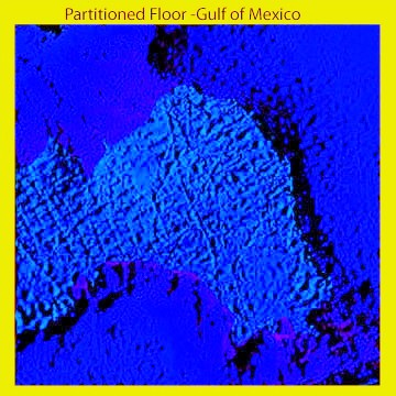 Ancient Partitioned Floor of Gulf of Mexico: High Contrast Version