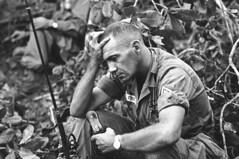 Vietnam US Troops 1965 (urcameras) Tags: soldier us war battle vietnam viet exhaustion fatigue troops officer nam vnm