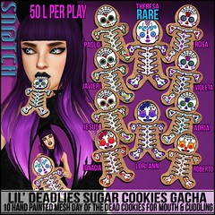 Sn@tch Lil Deadlies Sugar Cookies Gacha Vendor Ad LG (Tess-Ivey Deschanel) Tags: life costumes holiday sexy halloween fishing gothic haunted sl secondlife second alternative hauntedhouse snatch deschanel ivey gacha 7seas sntch fishingoutfit ihearts iveydeschanel