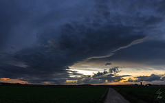 clouds (geoffreymaillard) Tags: autumn sunset sky clouds automne landscape colours sonnenuntergang belgique colorfull herbst perspective himmel wolken ciel nuages paysage landschaft lige perspectiv waremme hesbaye