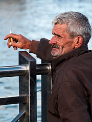 Fisherman's blues@ist.tr (Tilemachos Papadopoulos) Tags: street portrait people turkey fisherman istanbul eminonu qoq m43 mft mirrorless