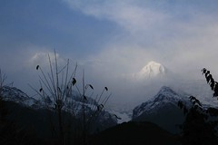 Birethanti To Ghandruk 29 (Mabacam) Tags: nepal cloud foothills snow mountains trekking walking landscape outdoors scenery hiking peaks annapurna 2015 ghandruk annapurnasouth hiunchuli ghandrung birethanti annapurnafoothills
