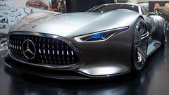 Mercedes-Benz AMG (Ric_O_K) Tags: auto door light white color car wheel silver stars star mercedes benz drive licht lightning concept stern glas aluminium amg iaa studie alu silber einfarbig blnk schwarzerhintergrund