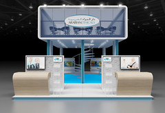 3D Render Of An Exhibition Stand