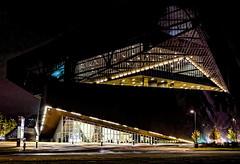 Irving Convention Center (GMills31) Tags: trees geometric rain design texas nightshot streetlamps large angles christmastree unusual lascolinas cityshot irvingconventioncenter sonya7ii
