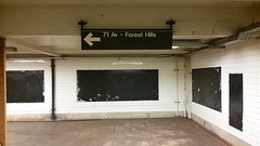 71 Av - Forest Hills (Joe Shlabotnik) Tags: cameraphone nyc newyorkcity sign subway queens foresthills elmhurst faved 2015 galaxys5 december2015