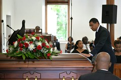 Prime Minister, the Most Hon. Andrew Holness, attends the Thanksgiving service for the late Cecil Cooper