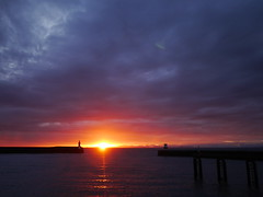 Whitehaven Harbour Sunset (Karls Kamera) Tags: sunset whitehaven harbour cloud