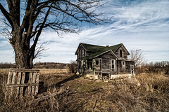 OldHouse (BoKauffmann) Tags: house creepy haunted scary old abandoned background spooky halloween building dark sky horror dirty window fear broken concept home winter light mysterious architecture tree aged clouds countryside ruin nightmare derelict paranormal farm mystery unitedstatesofamerica