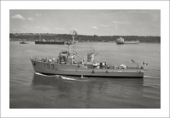 (SS-0036) - HMCS Fundy (Steve Given) Tags: hmcs fundy quebeccity canada 1960s minesweeper warship ship navy bayclass harbour