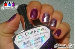 Butterfly - El Corazn (Raabh Aquino) Tags: unhas esmalte hologrfico roxo nails nailpolish holographic purple scattered butterfly