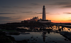 mary in the morning (dave_harrison56) Tags: stmarys lighthouse whitleybay northumberland sunrise rockpools reflections seaweed