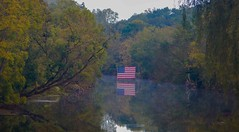 Misty waters... (w3inc / Bill) Tags: w3inc nikon aw130 mist fog water brandywinecreek chestercounty flag reflection hss sliderssunday fall