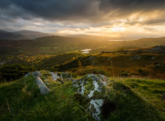 Lingmoor Fell (Alex Wrigley) Tags: landscape landscapes sun lake mountains lakes mountain rocks cumbria beauty beautiful nature clouds dramatic drama light dramaticlight landscapephotography lakedistrictphotography lakedistrict