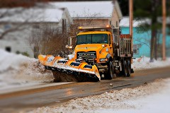 Pushin back the white stuff (cheliman) Tags: penndot plowing snowplow mack dumptruck winter snow snowremoval hydetown pa nwpa crawfordcounty outdoors truck mainst