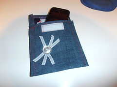Smartphone bag (irecyclart) Tags: bag fabric jeans wallet