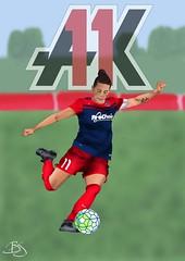 Ali Krieger (Britt_J) Tags: alikrieger ak11 uswnt soccer drawing photosho