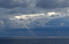 Sky and ray (JanuaryJoe) Tags: orkney scotland scottish deerness sky clouds sea seascapes copinsay