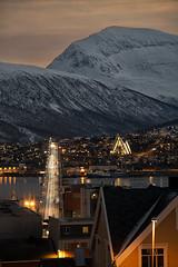 29 (Sergio Eschini) Tags: tromso viaggio travel norvegia normay snow december inverno winter crepuscolo natura landscape ponte bridge neve sunset