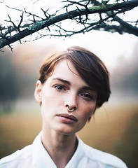 The Morning Dew (Rob Woodcox) Tags: beauty portrait nature fog morning dew stunning model woman girl androgyny robwoodcox robwoodcoxphotography white wet