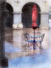 Rainy morning in Balboa Park (San Diego, California) (Solly Avenue) Tags: photomanipulation travel ipadpainting painterly sandiego ipadsketching digitalphotoart impressionism painterlyapp
