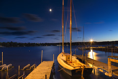 Harbor, Moon, Stars (rjseg1) Tags: doorcounty wisconsin ephraim harbor