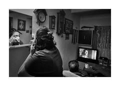 Saturday evening (Jan Dobrovsky) Tags: bw biogon21mm contrast document evening grain gypsies indoor krásnálipa leicam monochrome roma monochrom