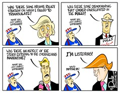 1116 listening cartoon (DSL art and photos) Tags: editorialcartoon donlee donaldtrump election 2016 presidential vote polls media press news triangulation disgruntled