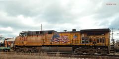 UP 6061 left (Milwaukee beerNut) Tags: up wi racine cnw 605 mow maintenance trackwork relay