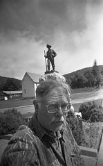 Bucktail's Monument (rentavet) Tags: vuws vivitarultrawideandslim fp50 rodinalstanddevelopment1200 analog