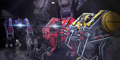 """""""Robots"""" - SSOC at INSILICO Mars (Eripom^^) Tags: secondlife ssoc sac insilico mars rp sf scifi mw01g otcr outland tech military combat weapon action robot artificial mechanic titan fall factory industial cosplay mech"""