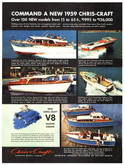 1959 Chris-Craft motor boats (Tom Simpson) Tags: 1959 chriscraft motorboat boat boating vintage ad ads advertising advertisement vintagead vintageads 1950s