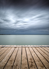 Lake Bonney Storm (David Dahlenburg) Tags: lake lakebonney longexposure dahlenburg wwwdaviddahlenburgcom jetty stormy storm landscape