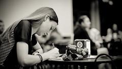 2014. Lviv. Ukraine. bookforum (bobobahmat) Tags: ukraine ukrainian lviv life lvov people portrait face girl woman eyes groupshot bookforum forum gorovyj book presentation photographer cafe bnw bw black blackandwhite blackwhite blacknwhite monochrome mono