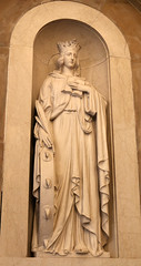 St Catherine of Alexandria (Lawrence OP) Tags: catherineofalexandria saints virgin martyr patroness philosophers preachers orderofpreachers trinitywashington university notredame chapel statue saint