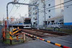 Odakyu Train (Gai) Tags:    kamakura kanagawa japan   train  sky   blue