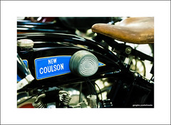New Coulson (Descended from Ding the Devil) Tags: canon40d canon60mmmacro dof nationalmotorcyclemuseum newcoulson beyondbokeh bokeh depthoffield kneepad motorcyle petroltank photoborder primelens saddle selectivefocus vintage