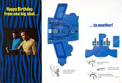 1976 Star Trek birthday card - phaser (Tom Simpson) Tags: startrek papercraft artsandcrafts birthday birthdaycard vintage 1976 1970s card phaser captainkirk williamshatner