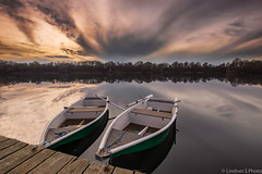 boats are waiting (lindner.photography) Tags: landscape landschaft lake see boats boote sunset sonnenuntergang clouds wolken mirrow spielgel