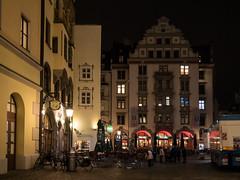 Platzl (H.H. Mahal Alysheba) Tags: night snapshot tradition germany munich mnchen street antique deutschland lumix gx7 lumixg 1260mmf3556